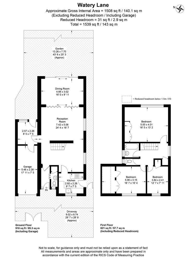 Floorplan for Watery Lane, Wimbledon